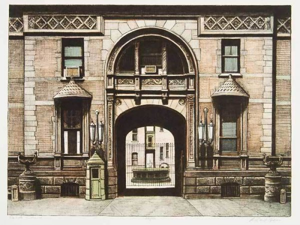 Dakota Entrance, The by Richard Haas at