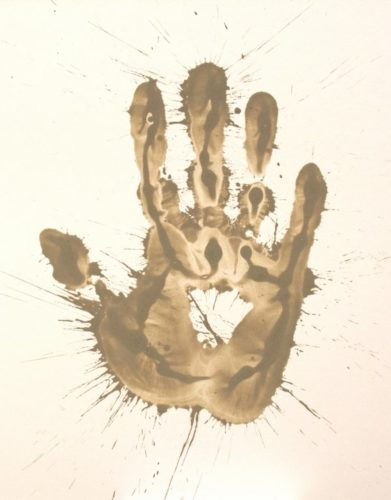 Mud Hand by Richard Long at