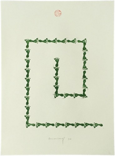 Untitled (from Artists Against Torture Portfolio) by Richard Long at