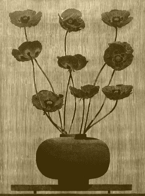 Nine Black Poppies by Richard Ryan