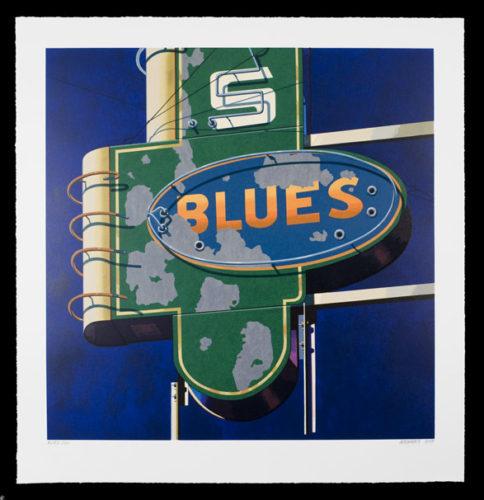 Blues by Robert Cottingham