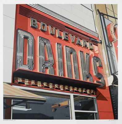 Boulevard Drinks by Robert Cottingham