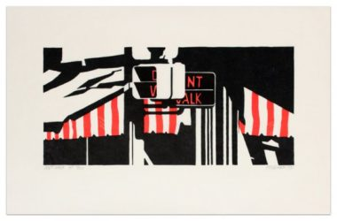 Don't Walk by Robert Cottingham at Krakow Witkin Gallery (IFPDA)