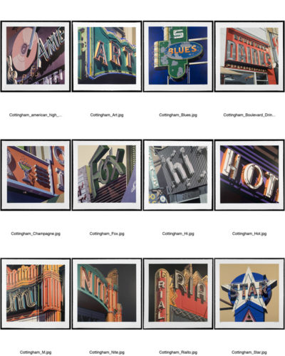 Neon Signs Suite by Robert Cottingham at