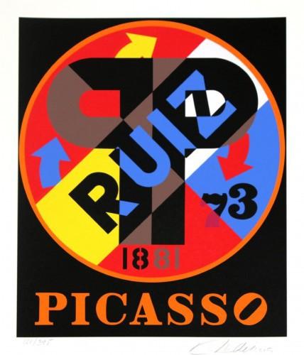 Picasso Ruiz by Robert Indiana at Robert Indiana