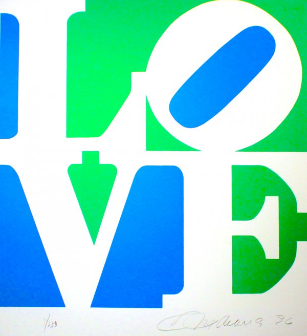 The Book Of Love #8 by Robert Indiana