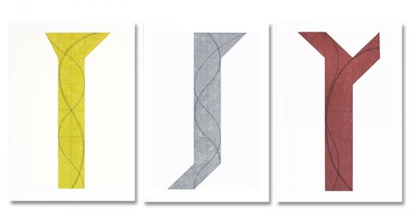 Untitled I,ii,iii, 2007 by Robert Mangold