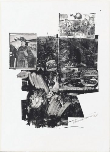 Booster And 7 Studies, Test Stone #2 by Robert Rauschenberg