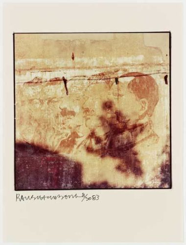 Profiles On Wall by Robert Rauschenberg