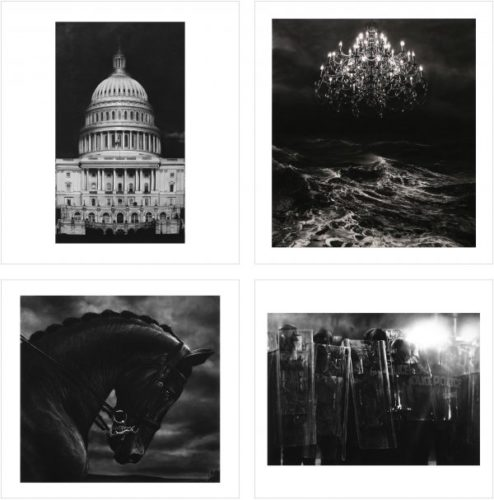Charcoal Portfolio (4 Prints) by Robert Longo at Robert Longo