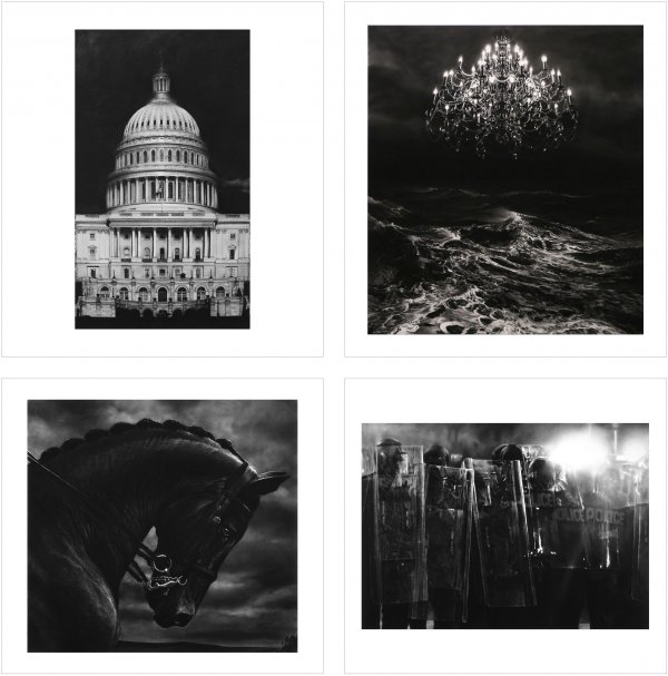 Charcoal Portfolio (4 Prints) by Robert Longo