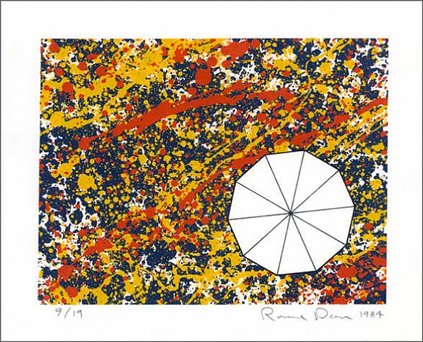 Decagon Splatter by Ronald Davis at