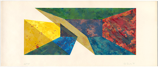 Diagonal Slice by Ronald Davis at David Lawrence Gallery