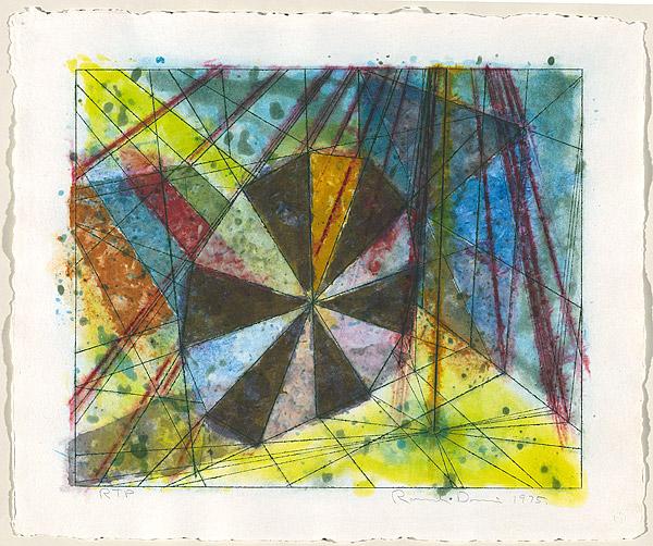 Pinwheel, Diamond, And Stripe by Ronald Davis