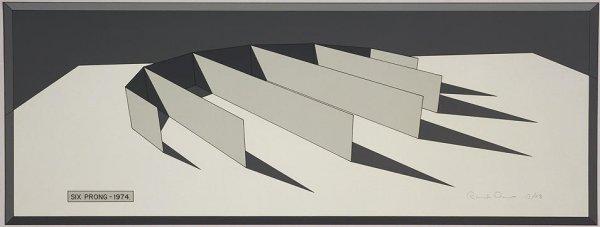 Six Prong-grey by Ronald Davis at