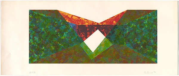 Triangle Slice by Ronald Davis at David Lawrence Gallery