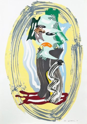 Green Face by Roy Lichtenstein