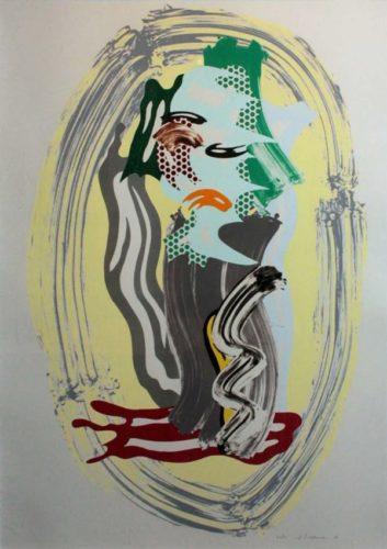 Green Face, From Brushstroke Figures by Roy Lichtenstein
