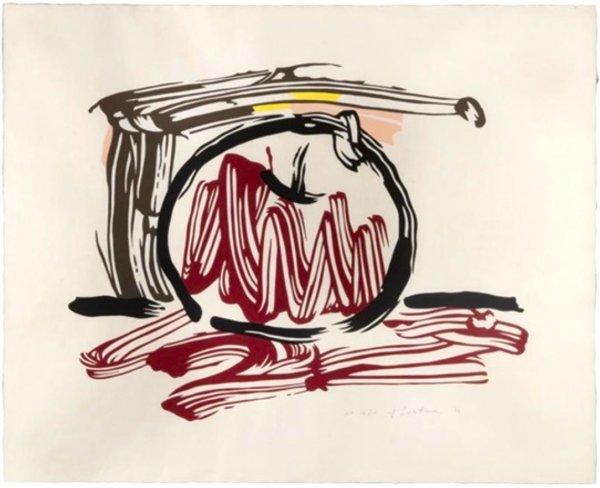 Red Apple, Seven Apple Woodcuts Series (c. 196) by Roy Lichtenstein