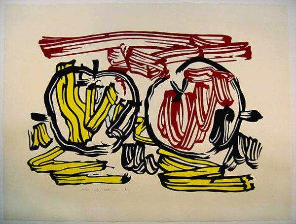 Red And Yellow Apple by Roy Lichtenstein