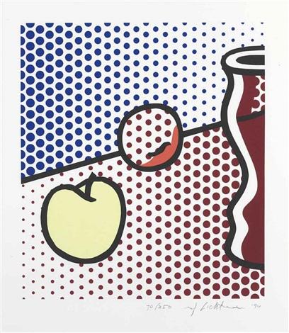 Still Life With Red Jar by Roy Lichtenstein at Roy Lichtenstein
