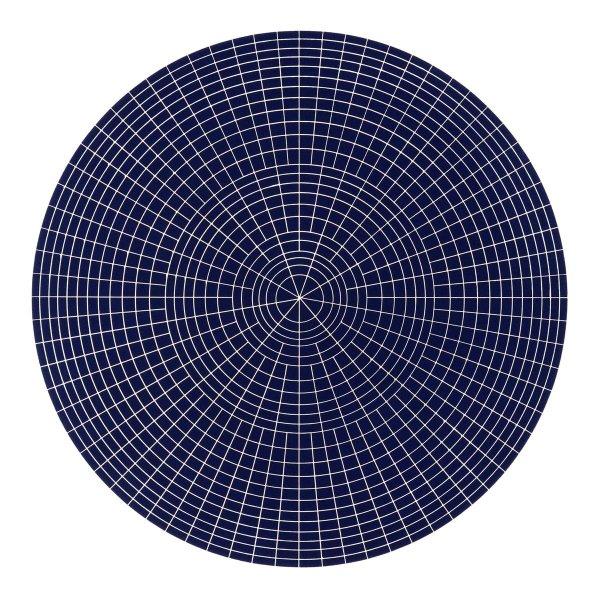 Array 1000/dark Blue by Rupert Deese
