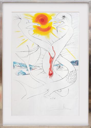 Mars Alimenté by Salvador Dali