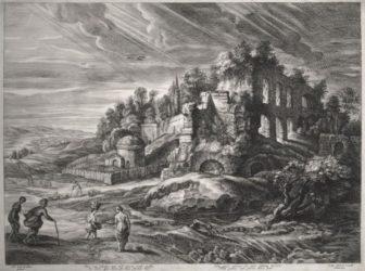 Landscape With Roman Ruins by Schelte Adams Bolswert at R. S. Johnson Fine Art (IFPDA)