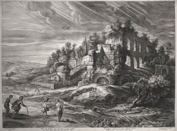 Landscape With Roman Ruins by Schelte Adams Bolswert at R. S. Johnson Fine Art (IFPDA)