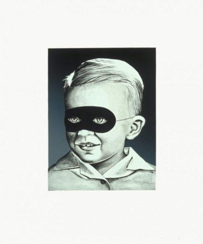 Boy With Mask by Sean Mellyn