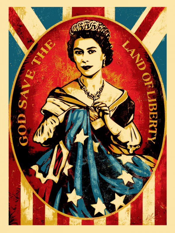 Americana Box Set: God Save The Queen by Shepard Fairey