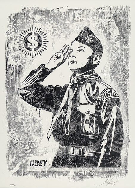 Damaged Stencil Series: Learn To Obey by Shepard Fairey