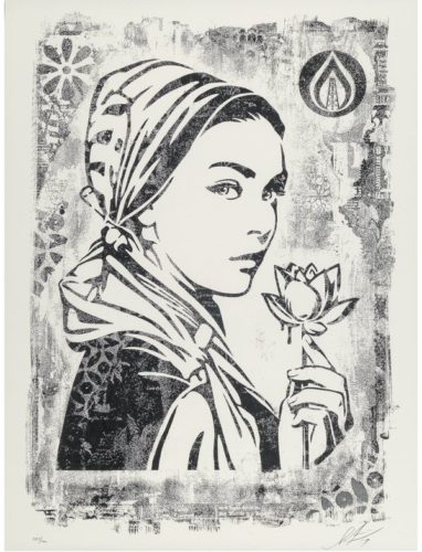 Damaged Stencil Series: Natural Springs by Shepard Fairey at Taglialatella Galleries