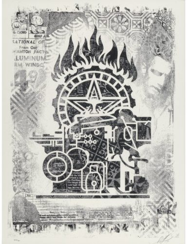 Damaged Stencil Series: Obey Printing Press by Shepard Fairey