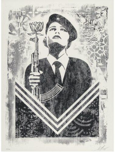 Damaged Stencil Series: Peace Guard 2 by Shepard Fairey