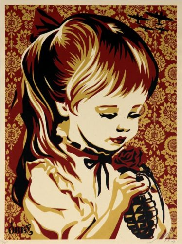 War By Numbers (red) by Shepard Fairey at Shepard Fairey