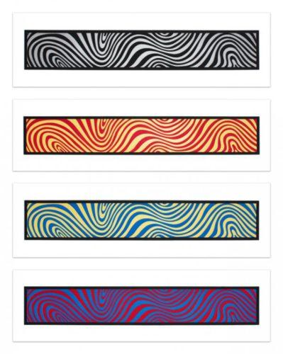 Wavy Irregular Bands by Sol LeWitt