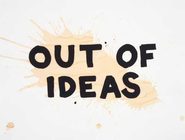Out Of Ideas by Steve Lambert