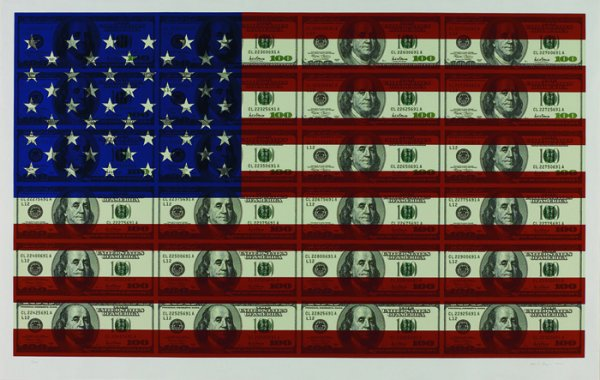 $100 U.s. Flag by Steven Gagnon at Vertu Fine Art