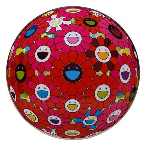 Flowerball (3d) Red, Pink, Blue. by Takashi Murakami