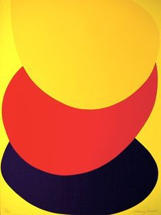 Suspended Red, Yellow & Black by Terry Frost at