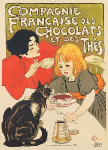 Compagnie FranÇaise Des Chocolats Et Des ThÈs by Theophile-Alexandre Steinlen at Christopher-Clark Fine Art