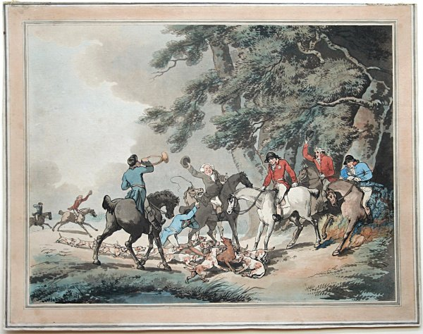 The Death Of The Fox by Thomas Rowlandson at