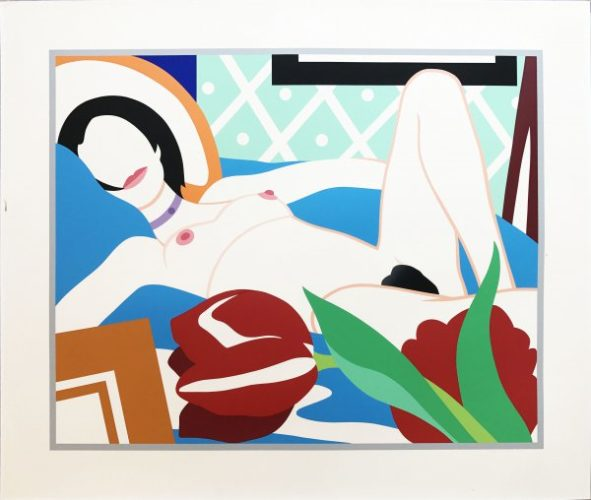 Monica With Tulips by Tom Wesselmann
