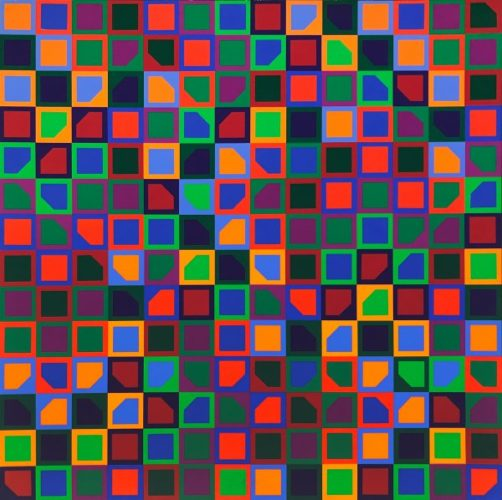 Untitled (school Print) by Victor Vasarely