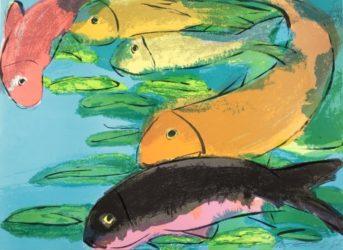 Fish by Walasse Ting at Kunzt