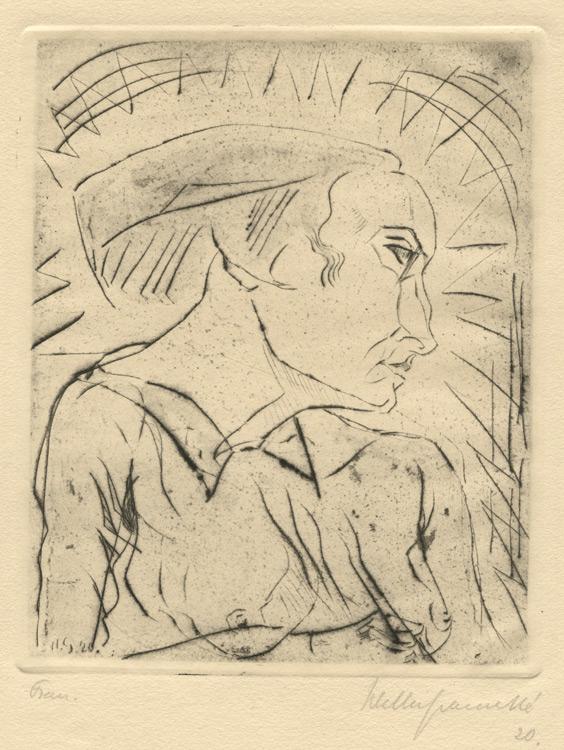 Frau Ii by Walter Gramatté