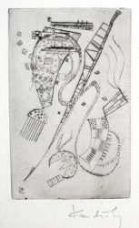 """Etching For Stephen Spender """"fraternity"""" by Wassily Kandinsky at Harris Schrank Fine Prints (IFPDA)"""