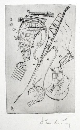 "Etching For Stephen Spender ""fraternity"" by Wassily Kandinsky at Harris Schrank Fine Prints (IFPDA)"