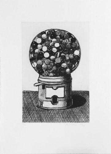 Dark Gumball Machine by Wayne Thiebaud at